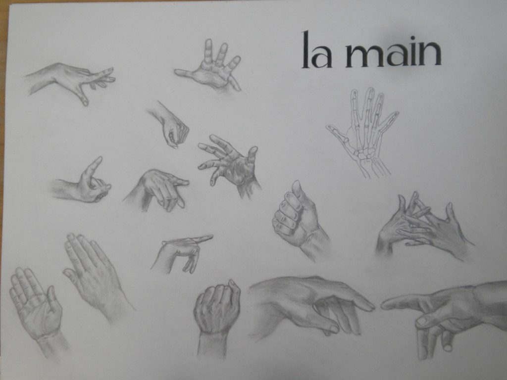 Lionel de barros dessins et peintures etude sur la main - Dessin de la main ...