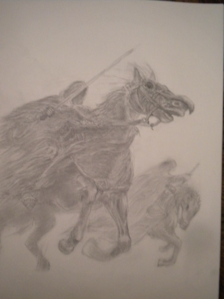 spectre a cheval  dans dessin au crayon DSCN2911-1024x7681