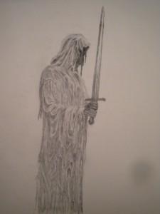 nazgul d'apres Alan Lee dans dessin au crayon DSCN2912-1024x768-225x300